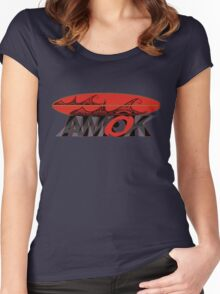 AMOK - tribal wave surfboard Women's Fitted Scoop T-Shirt