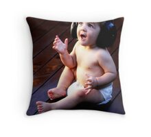 """""""Don't worry , Be Happy ! """" Throw Pillow"""