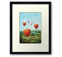 Red Wishes Framed Print
