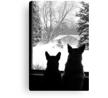 Snow Day Entertainment ~ Canvas Print