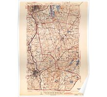 USGS TOPO Map New Hampshire NH Manchester 330140 1941 62500 Poster