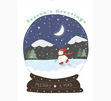 Snow globe snowman Christmas Card Unisex T-Shirt