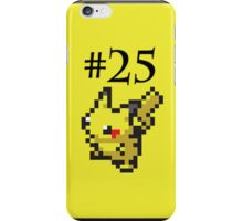 Number 25: Pikachu iPhone Case/Skin