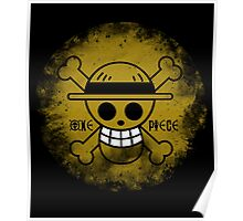 One Piece Logo (Luffy), Anime T-Shirt Poster
