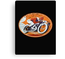 orange rider Canvas Print