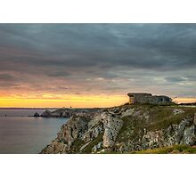 WWII Bunker at Sunset, France Photographic Print