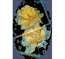 Diamond studded yellow roses Photographic Print