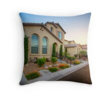 Suburban Vegas Sunrise Throw Pillow