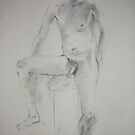 Nude man standing by Julia Lesnichy