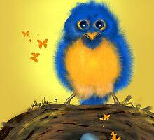 Bluebirdie, by Alma Lee by Alma Lee