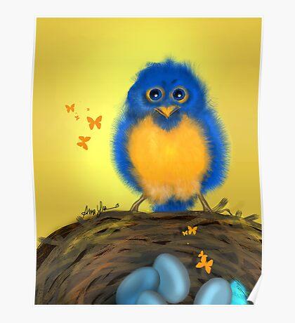 Bluebirdie, by Alma Lee Poster
