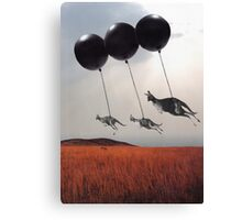 Black Balloons Canvas Print