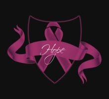 Breast Cancer Hope Ribbon Shield Awareness by Sarah  Eldred