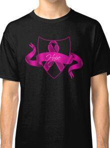 Breast Cancer Hope Ribbon Shield Awareness Classic T-Shirt