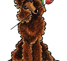 Chocolate Poodle Sweetheart by offleashart