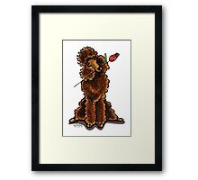 Chocolate Poodle Sweetheart Framed Print
