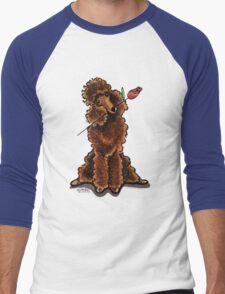 Chocolate Poodle Sweetheart Men's Baseball ¾ T-Shirt