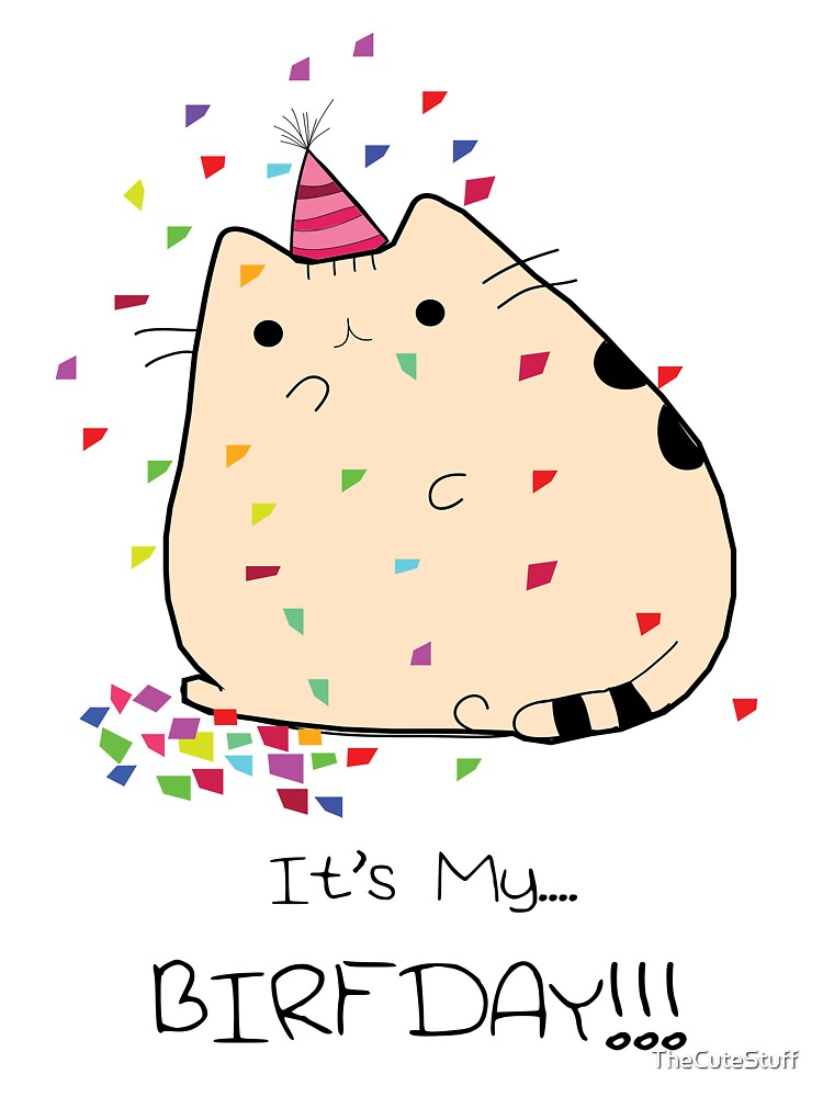 Fat Kitty Birfday by TheCuteStuff