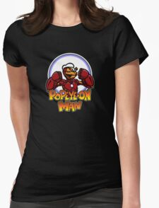 Popeye-on Man Womens Fitted T-Shirt
