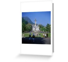 Sanctuary of Lourdes, France 2005 Greeting Card