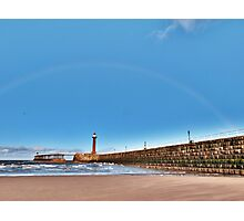 Rainbow over Whitby Photographic Print