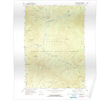 USGS TOPO Map New Hampshire NH Mount Osceola 329679 1967 24000 Poster