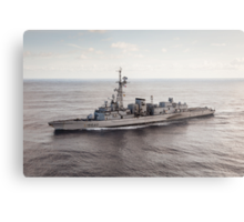 Old French Navy Destroyer Metal Print