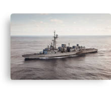 Old French Navy Destroyer Canvas Print