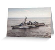 Old French Navy Destroyer Greeting Card