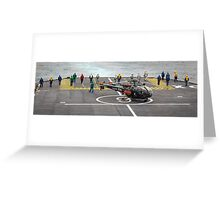 Safety Walkdown - Helicopter Flight Deck Greeting Card