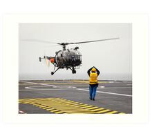 French Aérospatiale Alouette III Helicopter Art Print