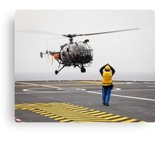 French Aérospatiale Alouette III Helicopter Canvas Print