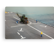 Eurocopter AS332 Super Puma Helicopter Metal Print