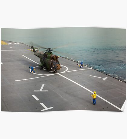 Eurocopter AS332 Super Puma Helicopter Poster