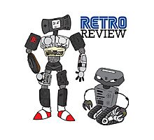 Retro Review Mascot Photographic Print