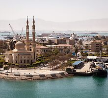 Egyptian Mosque on the Suez Canal by Joshua McDonough