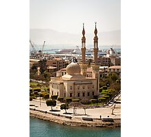 Egyptian Mosque on the Suez Canal Photographic Print