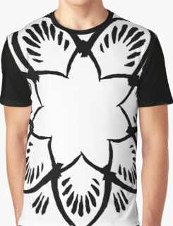 Simplistic and floral (Black and white~) Graphic T-Shirt
