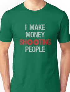 Photographer Shooting People Design Unisex T-Shirt