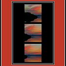 Sunset over the Rance river by Karo / Caroline Evans (Caux-Evans)