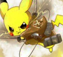 Pikachu! LIGHTNING ON TITAN! Sticker