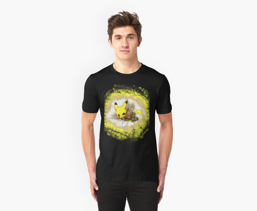 Pikachu! LIGHTNING ON TITAN! by Outbreak  DesignZ