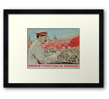 To Our Dear Stalin, the Nation, 1949 Framed Print