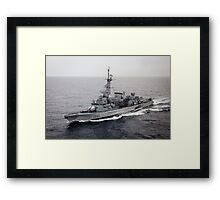 Old French Navy Destroyer Framed Print