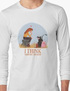 I think therefore I am vegan Long Sleeve T-Shirt