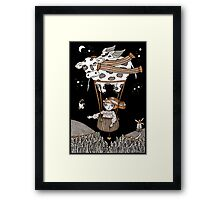 Millies Moo Mobile Framed Print