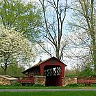 Spring at the General Burrows Memorial Covered Bridge by Gene Walls