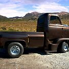 """1954 International Harvester Cab Over Pickup Truck """"Size Matters"""" Side View by TeeMack"""