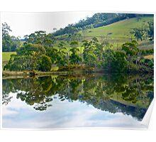 GREEN ~ Mirror Landscape by tasmanianartist Poster
