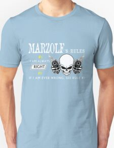 MARZOLF Rule #1 i am always right If i am ever wrong see rule #1- T Shirt, Hoodie, Hoodies, Year, Birthday T-Shirt